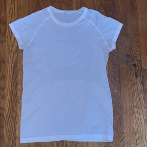 White lululemon swiftly tech short sleeve crew